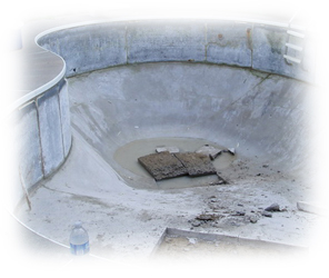 Procedure how to fill in pool - proper drainage