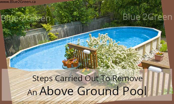 Above ground pools swimming pool fill in removal and for Above ground pool removal ideas