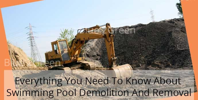 Swimming pool demolition
