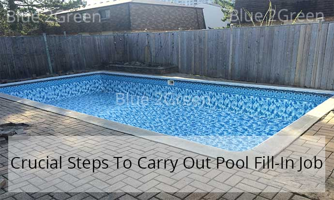 Pool Fill In Service Swimming Pool Fill In Removal And