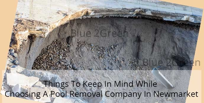 swimming pool removal Newmarket