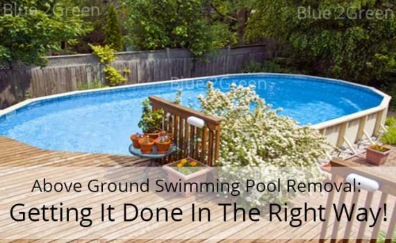 Above ground swimming pool removal
