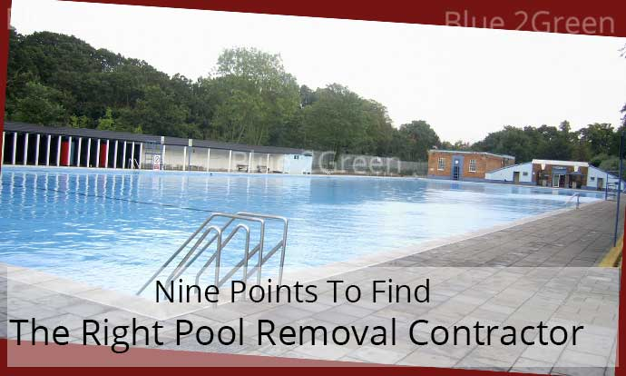 Swimming pool removal contractor